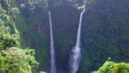 Aerial view of Tad Fane waterfall in rainforest at Pakse and Champasak city Laos