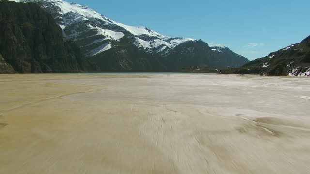aerial view of tailings dam in chile - chile stock videos & royalty-free footage