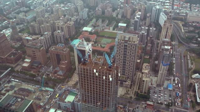 Luftaufnahme von Taipeh Stadt in Taiwan