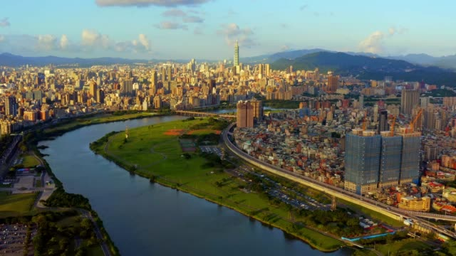 aerial view of taipei taiwan - taipei stock videos & royalty-free footage