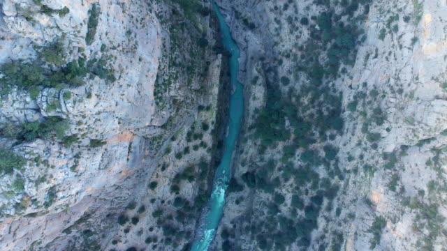 aerial view of tazi kanyonu (tazi canyon) - rafting stock videos & royalty-free footage