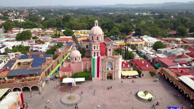 Aerial view of Tequisquiapan in Queretaro Mexico