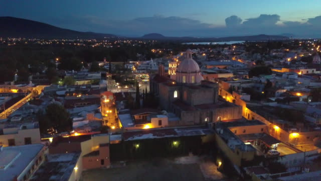 Aerial view of Tequisquiapan in Queretaro Mexico