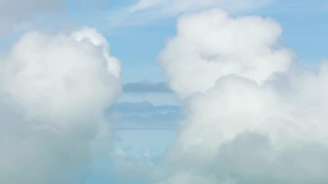 vidéos et rushes de aerial view of textured cloudscape silence and freedom - cumulonimbus