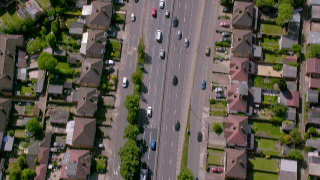 aerial view of the a40 highway out of london, uk. 4k - england stock videos & royalty-free footage
