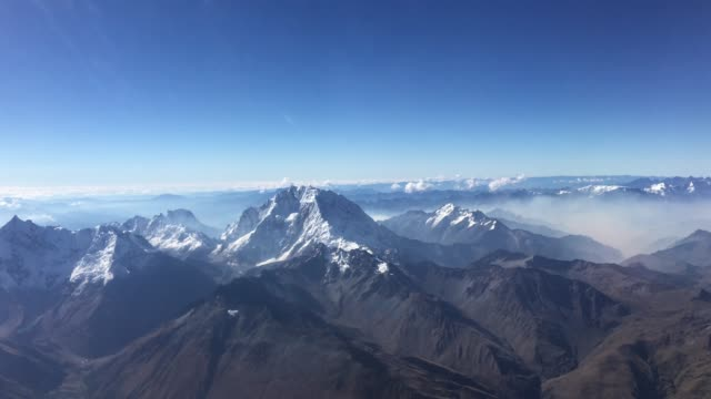 aerial view of the andes alps - chile stock videos and b-roll footage