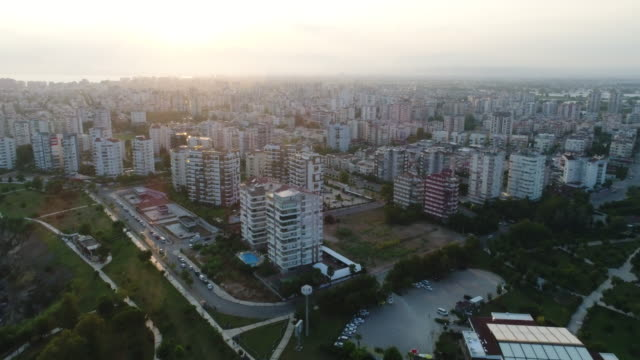 aerial view of the antalya city - turkish culture stock videos and b-roll footage