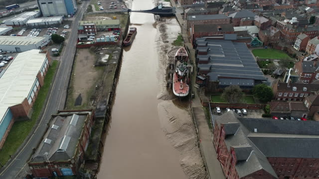 aerial view of the arctic corsair - hull stock videos & royalty-free footage