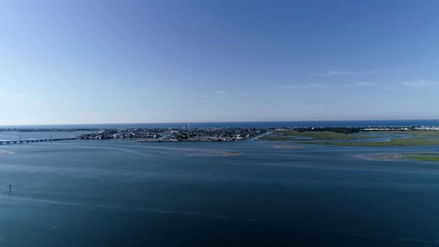 aerial view of the atlantic beach cityscape in north carolina - atlantic beach north carolina stock videos & royalty-free footage