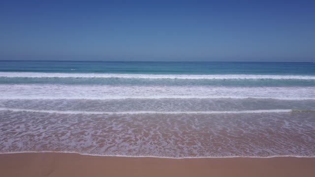 Aerial view of the beach at Apollo Bay, Great Ocean Road, Victoria, Australia