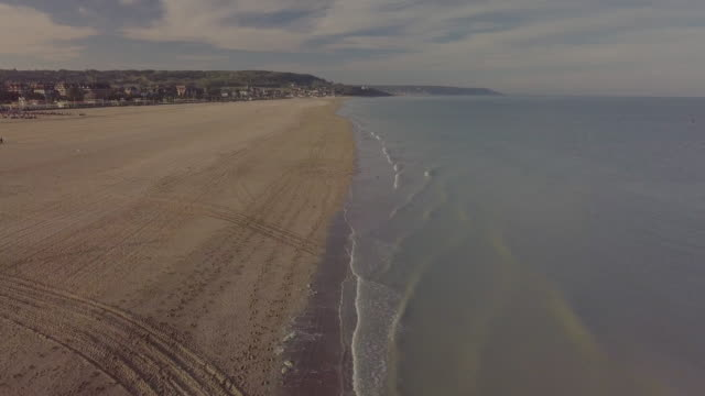 Aerial view of the beach of Deauville