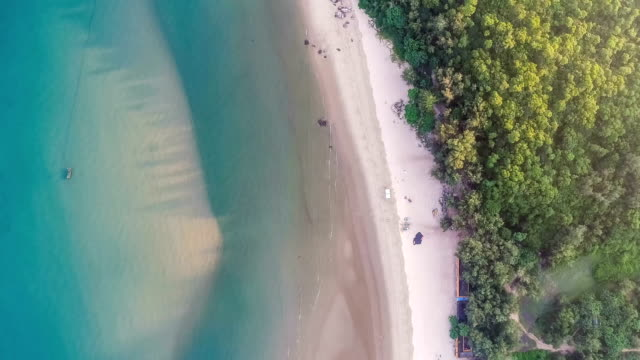aerial view of the beach - pacific ocean stock videos & royalty-free footage