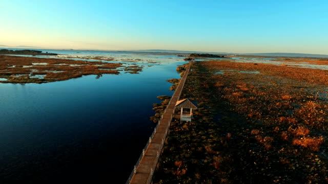 Luchtfoto van het prachtige Lake