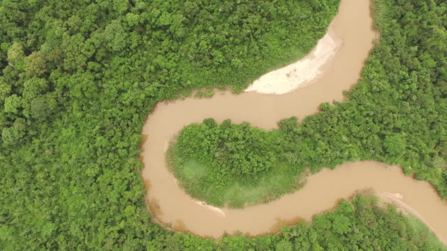 aerial view of the brazilian red river (rio vermelho) - goias, brazil - vermelho stock videos and b-roll footage