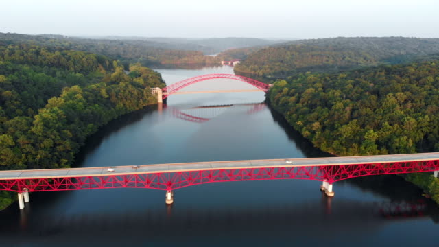 Aerial View of the Bridge and Road New Croton Reservoir