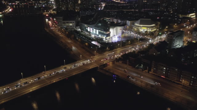 aerial view of the bridge over hai river - hai river stock videos & royalty-free footage