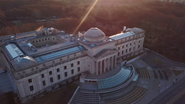 aerial view of the brooklyn museum - museum stock videos & royalty-free footage