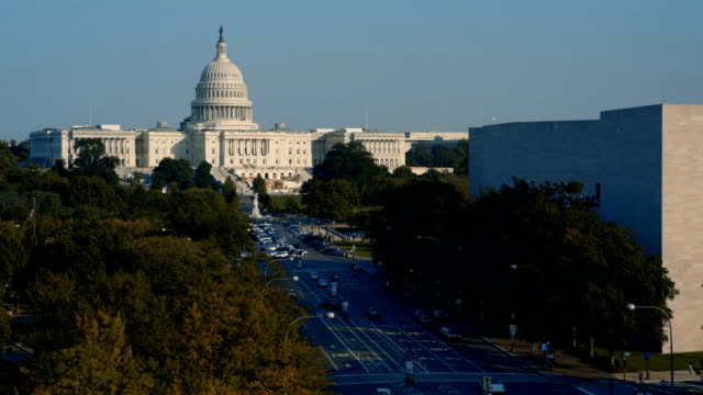 Aerial view of the Capitol Building, Washington D.C, USA
