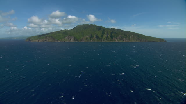 Aerial view of the Caribbean island of Dominica.