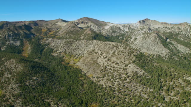 aerial view of the carson iceberg wilderness located in the sierra nevadas, california. - californian sierra nevada stock videos and b-roll footage