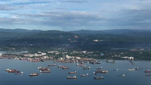 aerial view of the cebu landscape in philippines - coastline stock videos & royalty-free footage