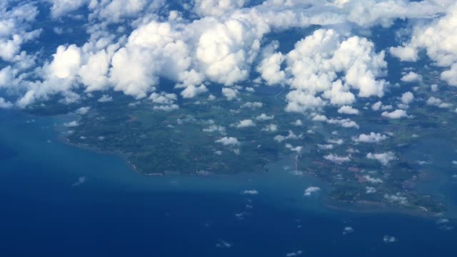 aerial view of the cebu landscape in philippines - philippines stock videos and b-roll footage