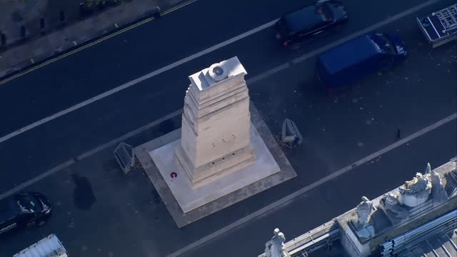 aerial view of the cenotaph - respect stock videos & royalty-free footage