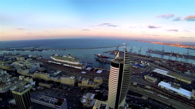 aerial view of the city haifa - haifa stock videos and b-roll footage