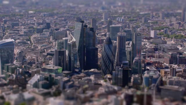 aerial view of the city, london, uk. 4k - london england stock videos and b-roll footage