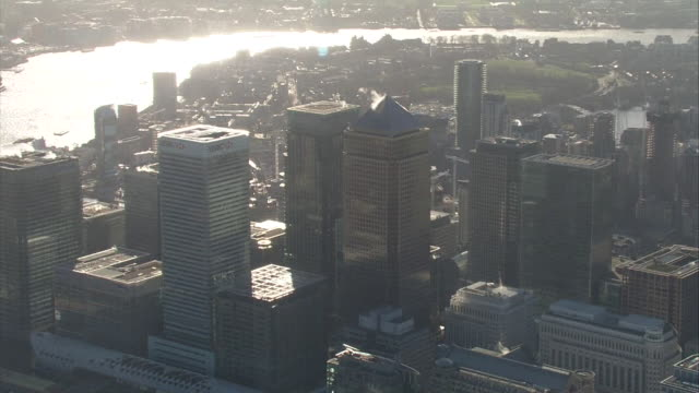 aerial view of the city of london - city life stock videos & royalty-free footage