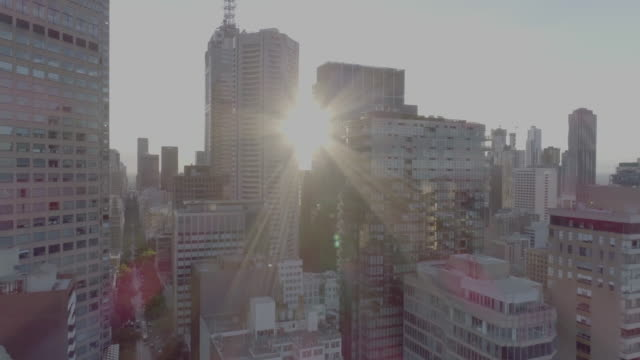 aerial view of the city of melbourne. melbourne australia - tilt up stock videos & royalty-free footage