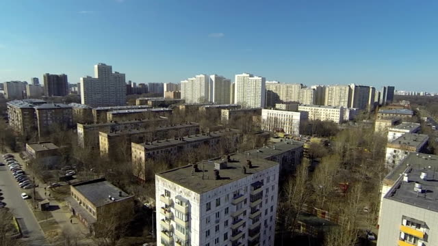 aerial view of the city / russia, moscow - moscow russia stock videos and b-roll footage