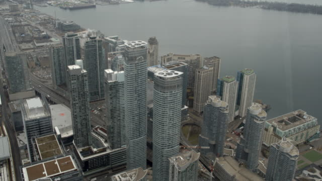 Aerial view of the city / Toronto, Canada