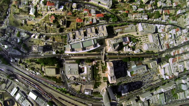 aerial view of the city - haifa stock videos and b-roll footage