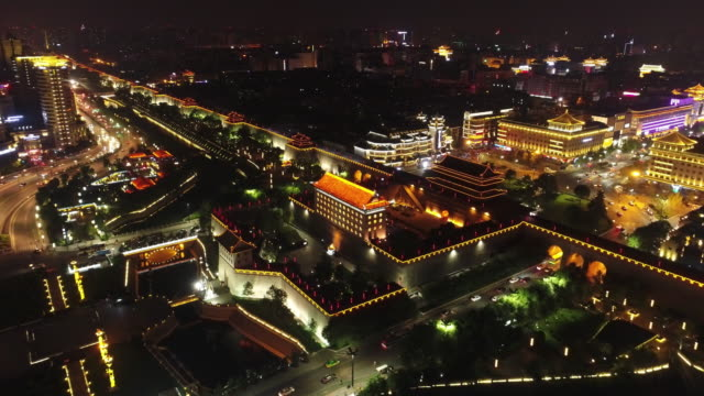 Aerial View of The Citygate of Xi'an in China