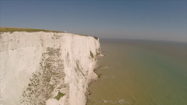 aerial view of the cliffs of dover - english channel stock videos & royalty-free footage