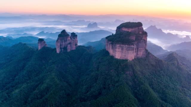Luftaufnahme des Danxia Berg - Zeitraffer