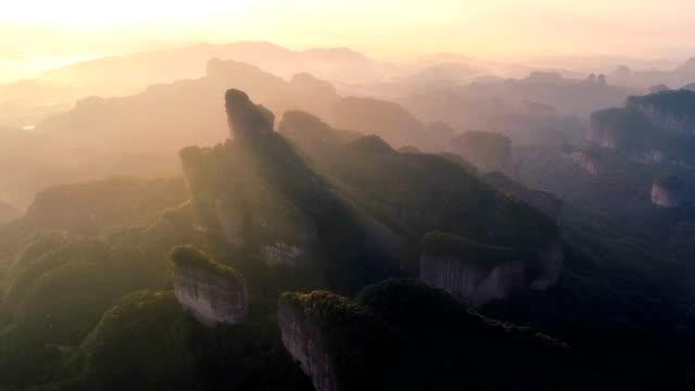Luftbild von der Danxia-Berg