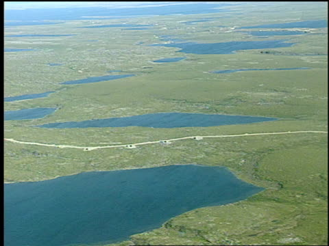 Aerial view of the EKATI mine EKATI mine from plane on July 12 1999 in Yellowknife Northwest Territories