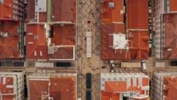 Aerial view of the famous Praca do Comercio