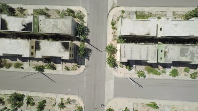 Aerial view of the ghost town of Lumane Casimir
