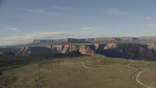 Aerial View Of The Grand Canyon With Highway And Tourist Center