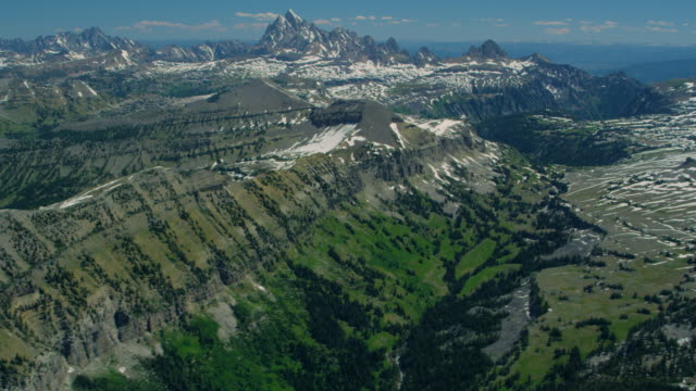 Aerial view of the Grand Teton National Park
