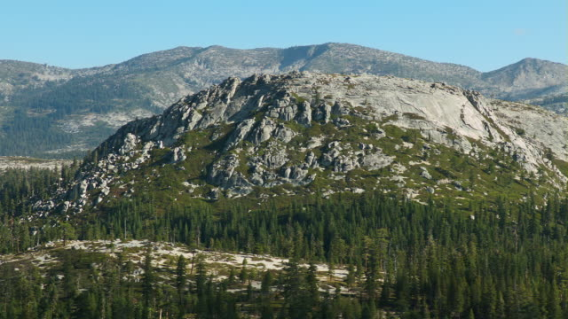 aerial view of the granite two peaks east in the eldorado national forest. - californian sierra nevada stock videos and b-roll footage