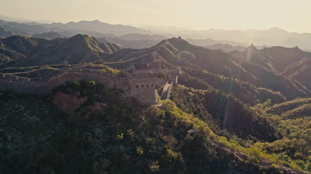 Aerial View of the Great Wall in China