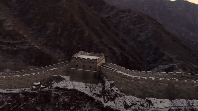 Aerial view of the Great Wall on February 23 2017 in Beijing China