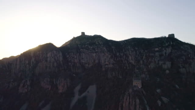 aerial view of the great wall - stone wall stock videos & royalty-free footage