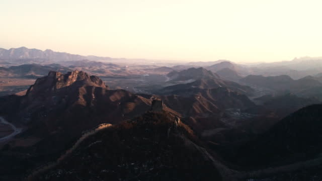 aerial view of the great wall - surrounding wall stock videos & royalty-free footage