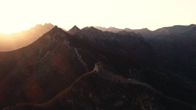 aerial view of the great wall - castle wall stock videos and b-roll footage