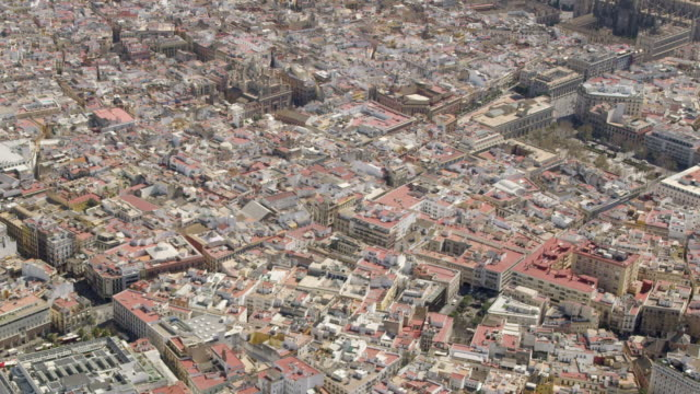 aerial view of the historic center of Seville